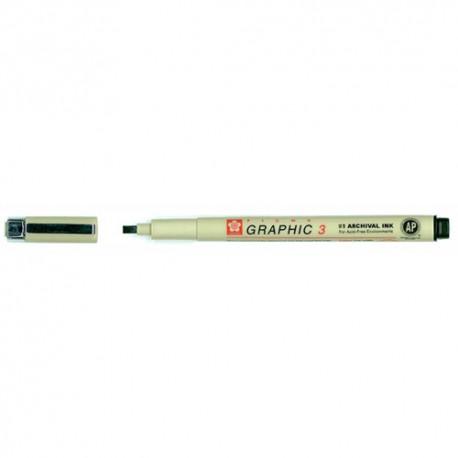 Sakura Pigma Graphic 3 kaligrafski marker Črna 3mm