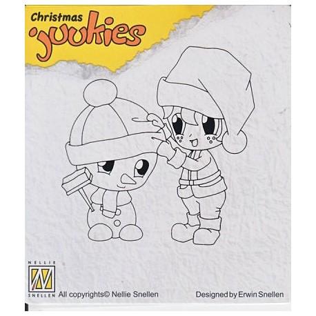Štampiljka Nellies Juukies Christmas Snežak