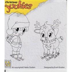 Štampiljka Nellies Juukies Christmas Smučar