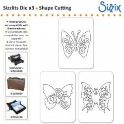 Sizzix komplet nožev 3 Metulji