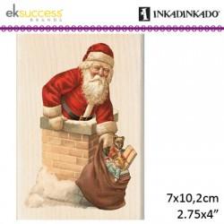 Inkadinkado lesena štampiljka iz gume Božiček 7 x 10,2cm