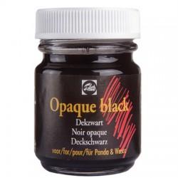 Črna prekrivna barva za praskanje 50ml