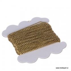 Dekorativna Zlata vrvica 0,7mm x 10m