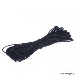 Povoščena tekstilna vrvica 0,5mm x 5m, Črna