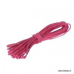 Povoščena tekstilna vrvica 0,5mm x 5m, Ciklama