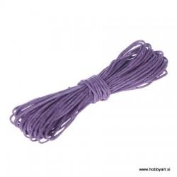 Povoščena tekstilna vrvica 0,5mm x 5m, Vijolična