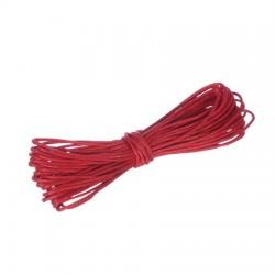 Povoščena tekstilna vrvica 0,5mm x 5m, Rdeča
