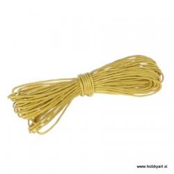 Povoščena tekstilna vrvica 0,5mm x 5m, Rumena