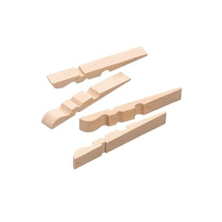 Lesene ščipalke polovične 72mm, 100 kosov