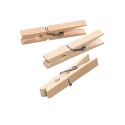 Ščipalke iz lesa 72 x 8mm, 50 kosov