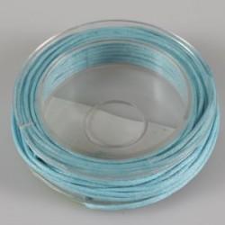 Povoščena tekstilna vrvica svetlo modra 1mm x 5m