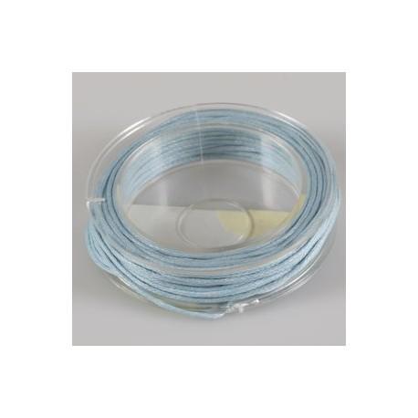 Povoščena tekstilna vrvica modra 1mm x 5m