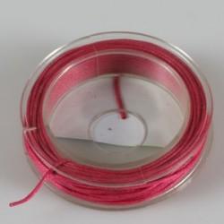 Povoščena tekstilna vrvica fuksija 1mm x 5m