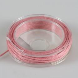 Povoščena tekstilna vrvica pink 1mm x 5m