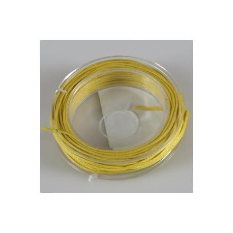 Povoščena tekstilna vrvica rumena 1mm x 5m