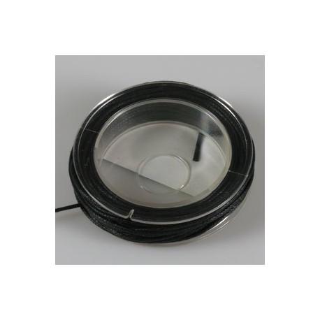 Povoščena tekstilna vrvica črna 1mm x5m