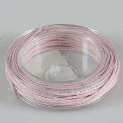 Povoščena tekstilna vrvica roza 1mm x 5m