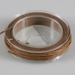 Povoščena tekstilna vrvica rjava 1mm x 5m