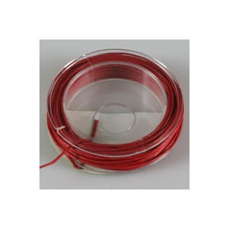 Povoščena tekstilna vrvica rdeča 1mm x 5m