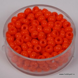 Perle neprosojne oranžne 4,5mm, 17g.