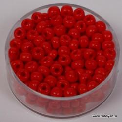 Perle neprosojne rdeče 4,5mm, 17g.