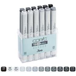 Copic marker Cool grey set 12