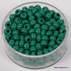 Perle neprosojne zelene 4,5mm, 17g.