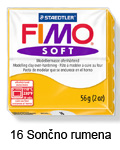 Fimo soft 57g. 16 Sončno rumena (art. 8020-16)