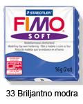 Fimo soft 57g. 33 Briljantno modra (art. 8020-33)
