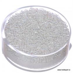 Miyuki perle 1,5mm, Srebrna sredica Cristal AB 10g.