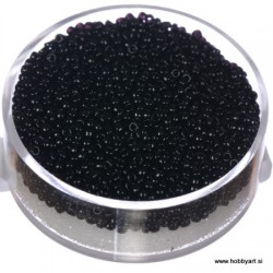 Miyuki perle 1,5mm, Črna 10g.