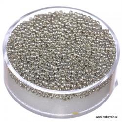 Miyuki perle 1,5mm, Srebrna 10g.