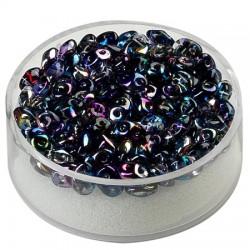 Super Duo perle 2,5 x 5mm, Kristal modro lila 8g.