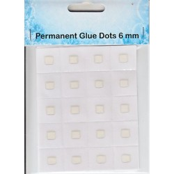 Lepljive 3D prozorne pike 6mm