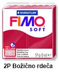 Fimo soft 57g. 2 P Božično rdeča (art. 8020-2 P)