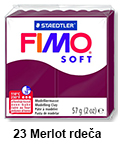 Fimo soft 57g. 23 Merlot rdeča (art. 8020-23)