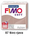 Fimo soft 57g. 87 Sivo rjava (art. 8020-87)