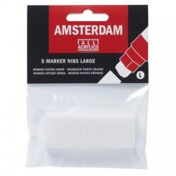 Nadomestne konice za Amsterdam marker 15mm, 5 kosov
