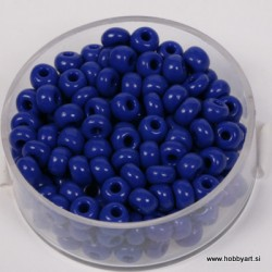 Perle neprosojne t. modre 4,5mm, 17g.