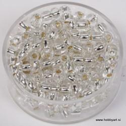Perle srebrna sredica 4,5mm prosojne 17g.