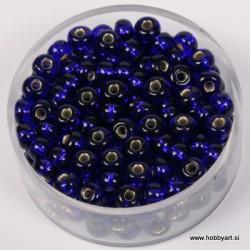 Perle srebrna sredica 4,5mm t. modre 17g.