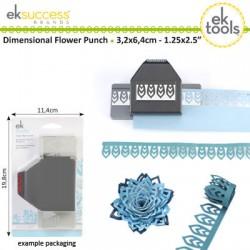 EK luknjač trak za izdelavo 3,2 x 6,4mm Rože