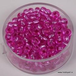 Perle srebrna sredica 4,5mm roza 17g.