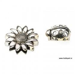 Kovinske perle za ploščat trak 14 in 18mm, 2 kosa