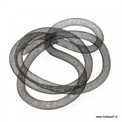Cevka iz laksa 8mm x 1m, Črna