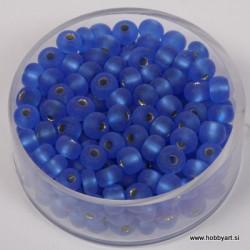 Perle srebrna sredica mat 4,5mm t. modre 17g.