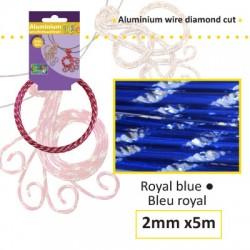 Aluminijasta žica Daimond rez 2mm, 5m, Kraljevsko modra