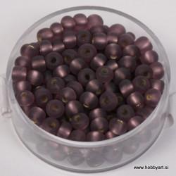 Perle srebrna sredica mat 4,5mm vijola 17g.