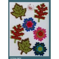 3D nalepke iz Filca Rože in listi 11x15cm, 7 kosov
