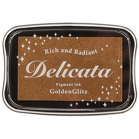 Tsukineko Delicata blazinica 45 x 75mm Metalno zlata